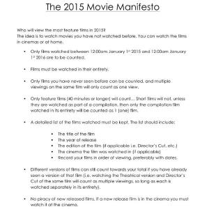 movie manifesto